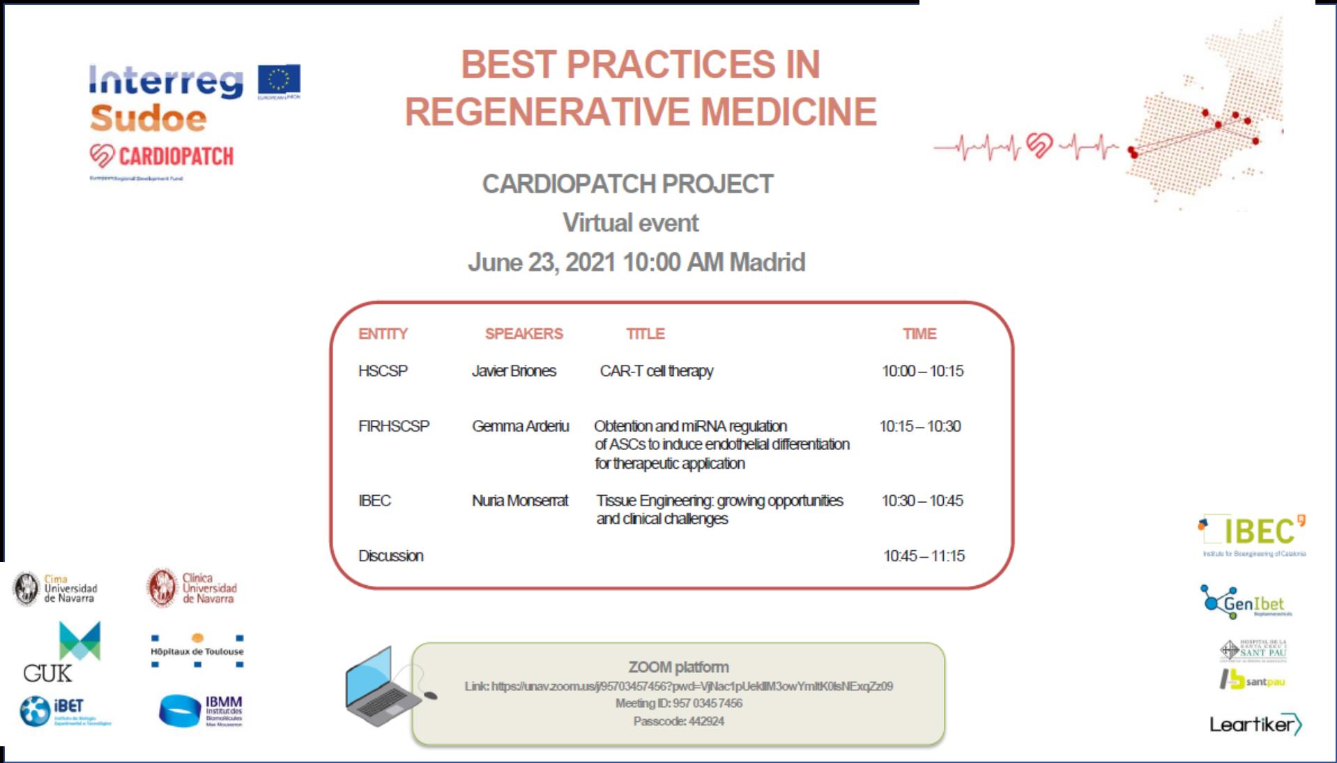 best practice in regenerative medecine 2021